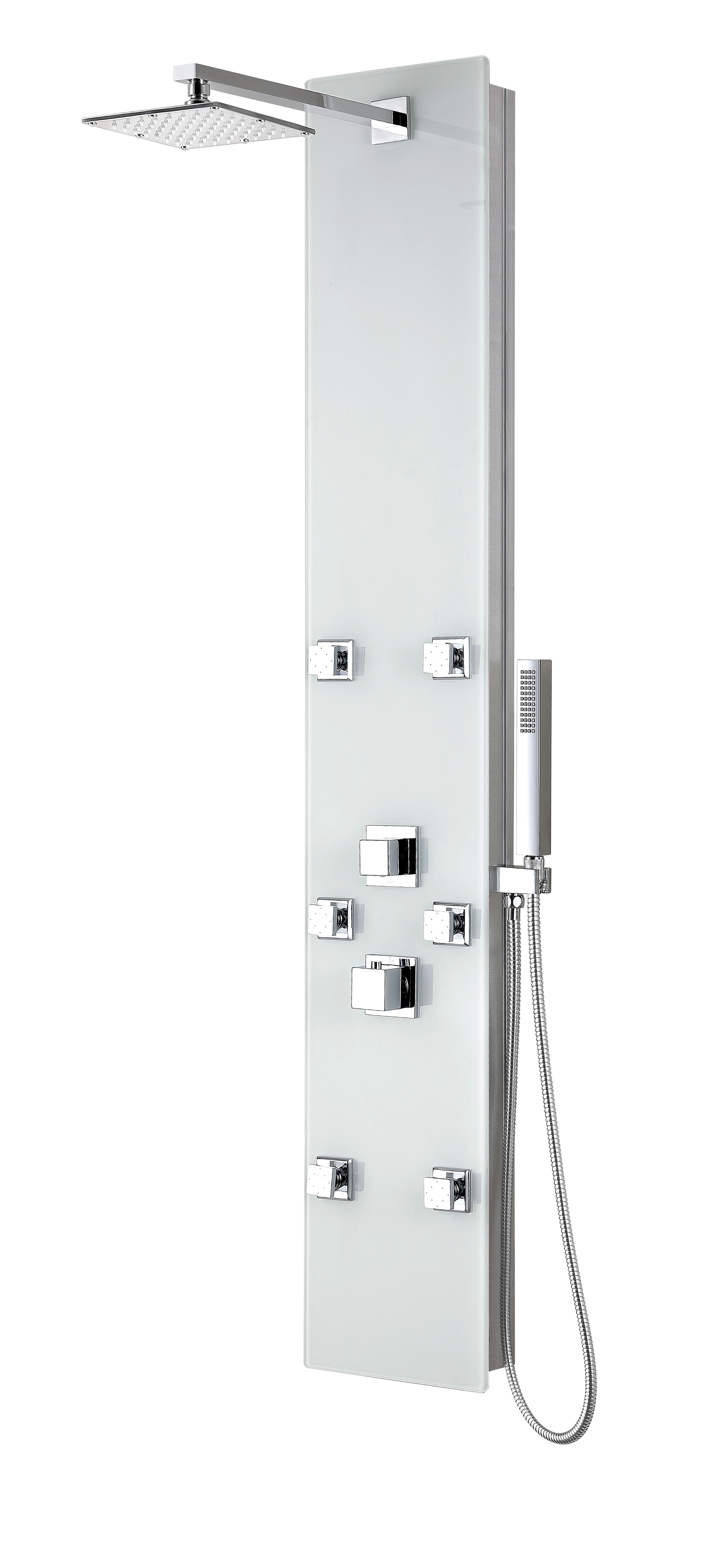ANZZI SP-AZ029 Rhaus Wall Mount Shower Panel With Spray Wand In White