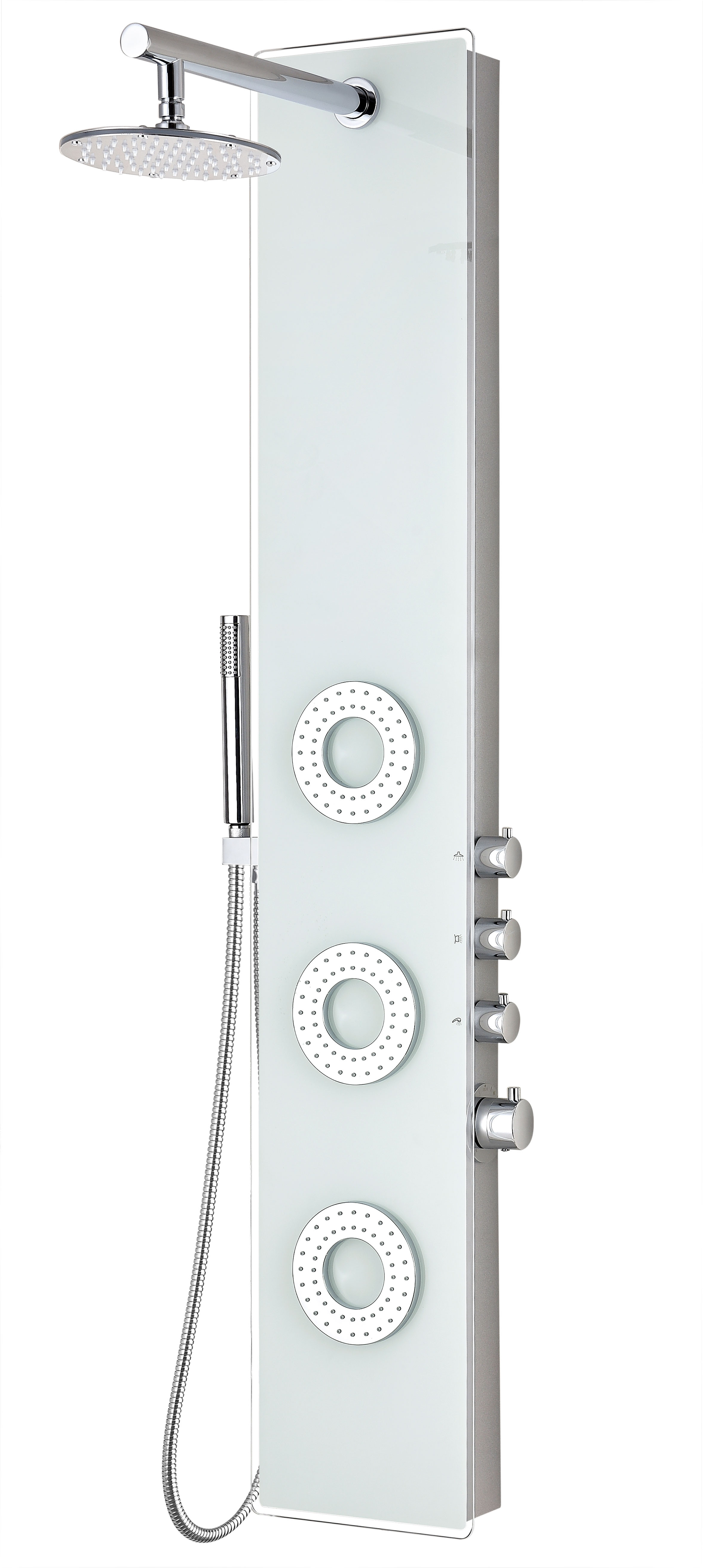 ANZZI SP-AZ031 Lynn Shower Panel With Rain Shower and Spray Wand In White