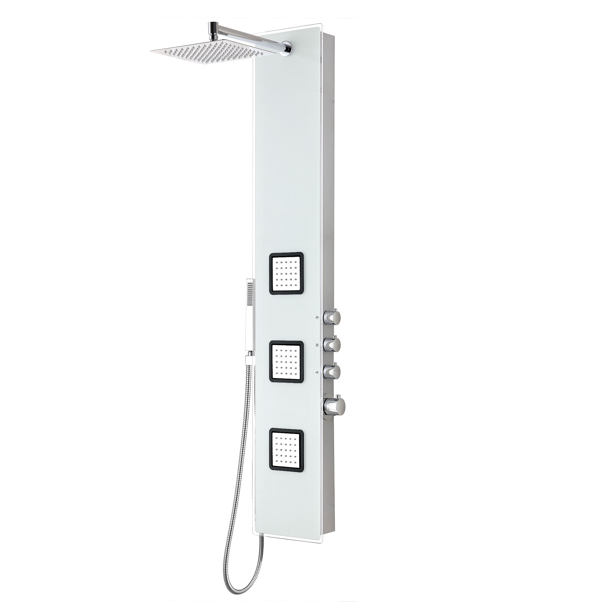 ANZZI SP-AZ032 Leopard Shower Panel With Shower Control Knobs In White