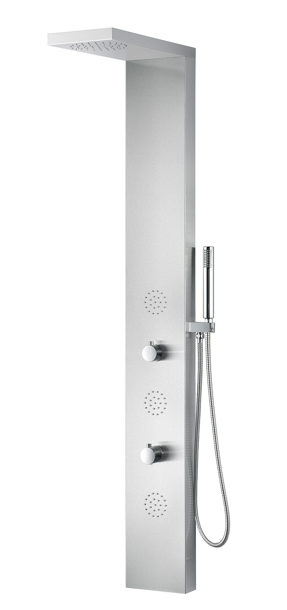 ANZZI SP-AZ039 Brushed Stainless Steel Tundra Shower Panel With Rain Shower
