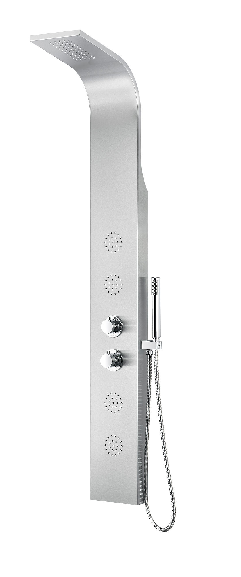 ANZZI SP-AZ040 Prairie Full Body Shower Panel In Brushed Sainless Steel