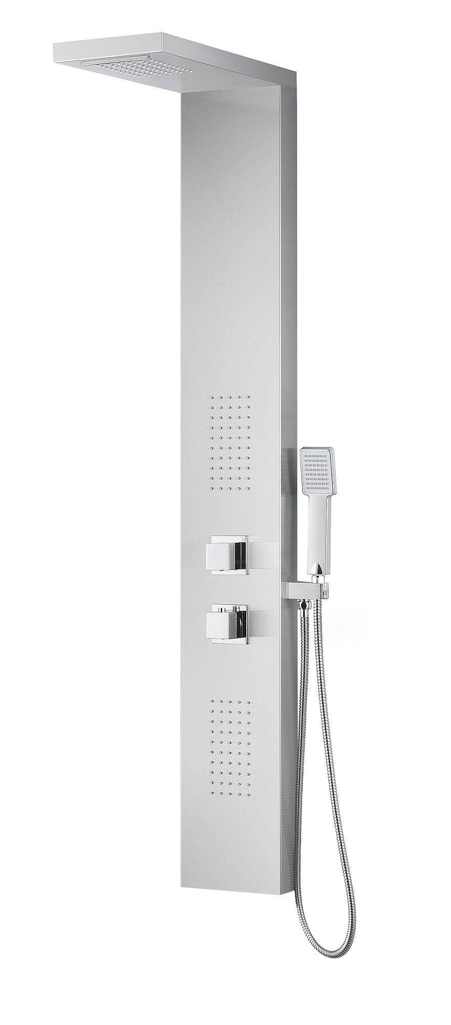 ANZZI SP-AZ041 Expanse Shower Panel System In Brushed Stainless Steel