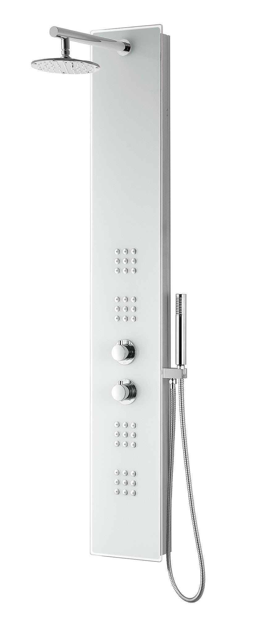 ANZZI SP-AZ048 Veld Series Shower Panel System With Spray Wand In White