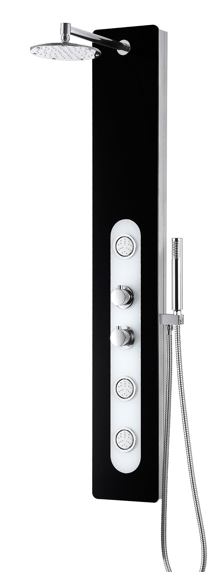 ANZZI SP-AZ049 Lande Series Shower Panel System With Rain Shower In Black