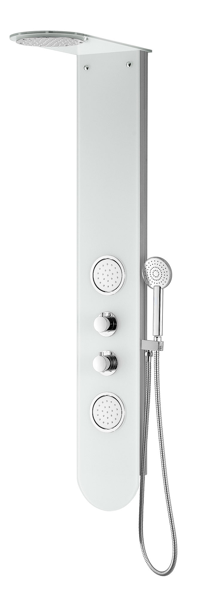 ANZZI SP-AZ051 Plains Wall Mount Full Body Shower Panel System In White