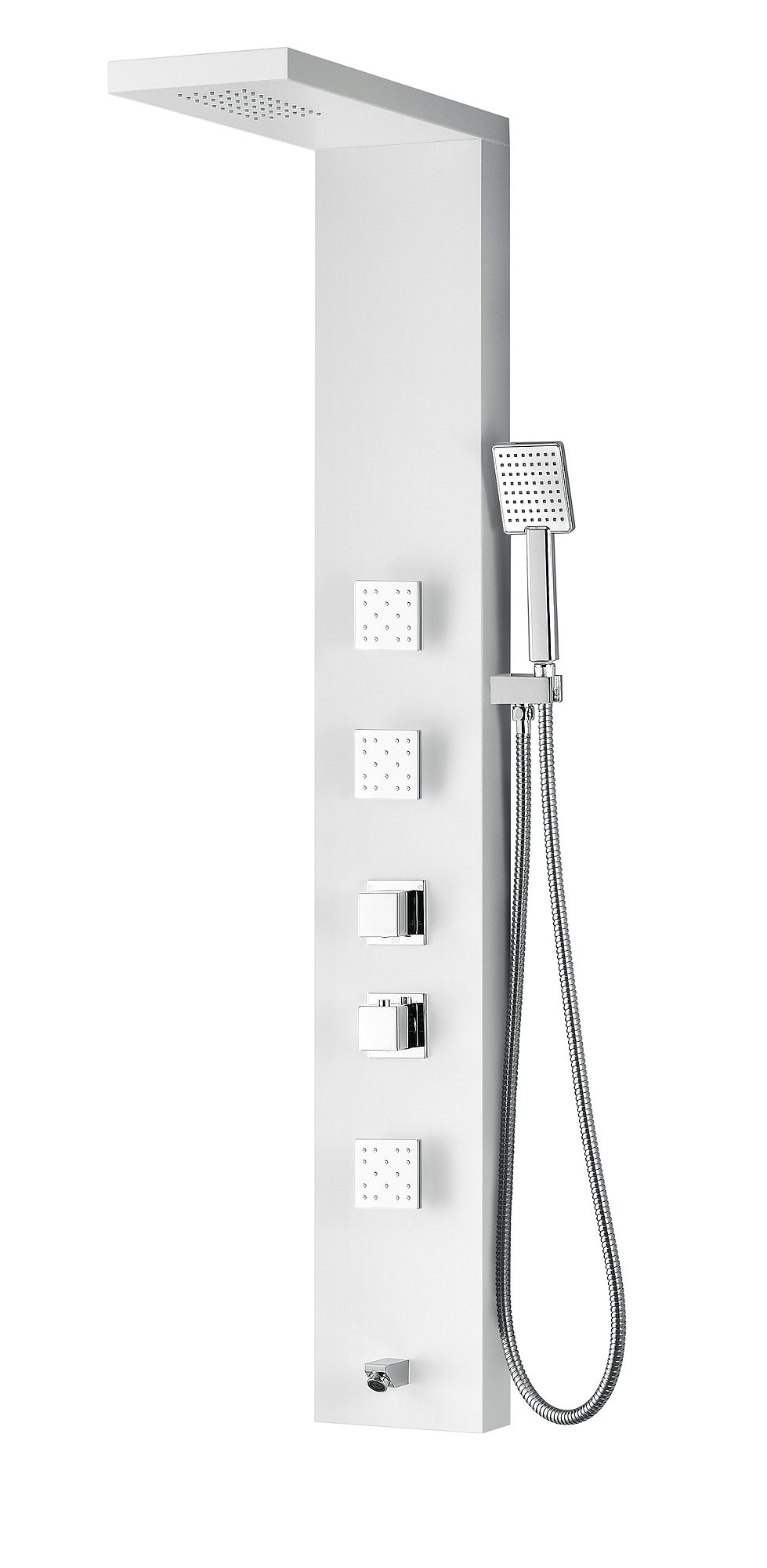 ANZZI SP-AZ054 Delta Shower Panel System With Two Knob Handles In White
