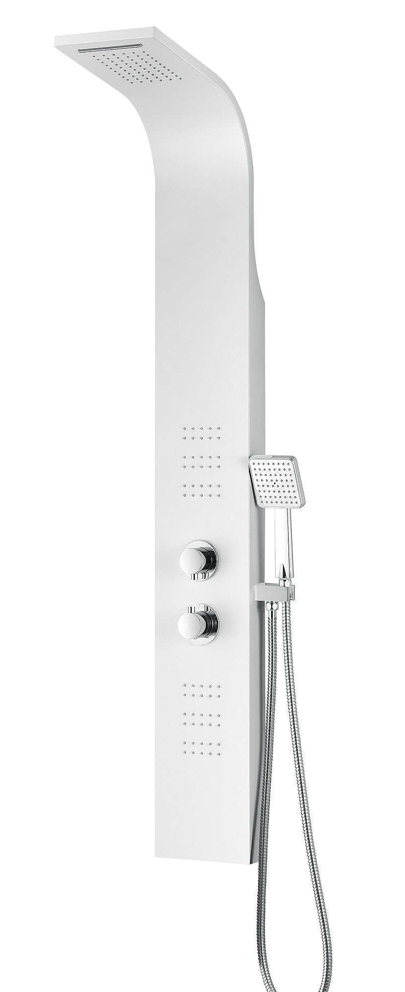 ANZZI SP-AZ055 Arena Shower Panel System In White With Heavy Rain Shower