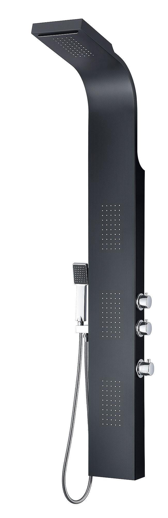 ANZZI SP-AZ056 Level Series Aluminum Full Body Shower Panel System In Black