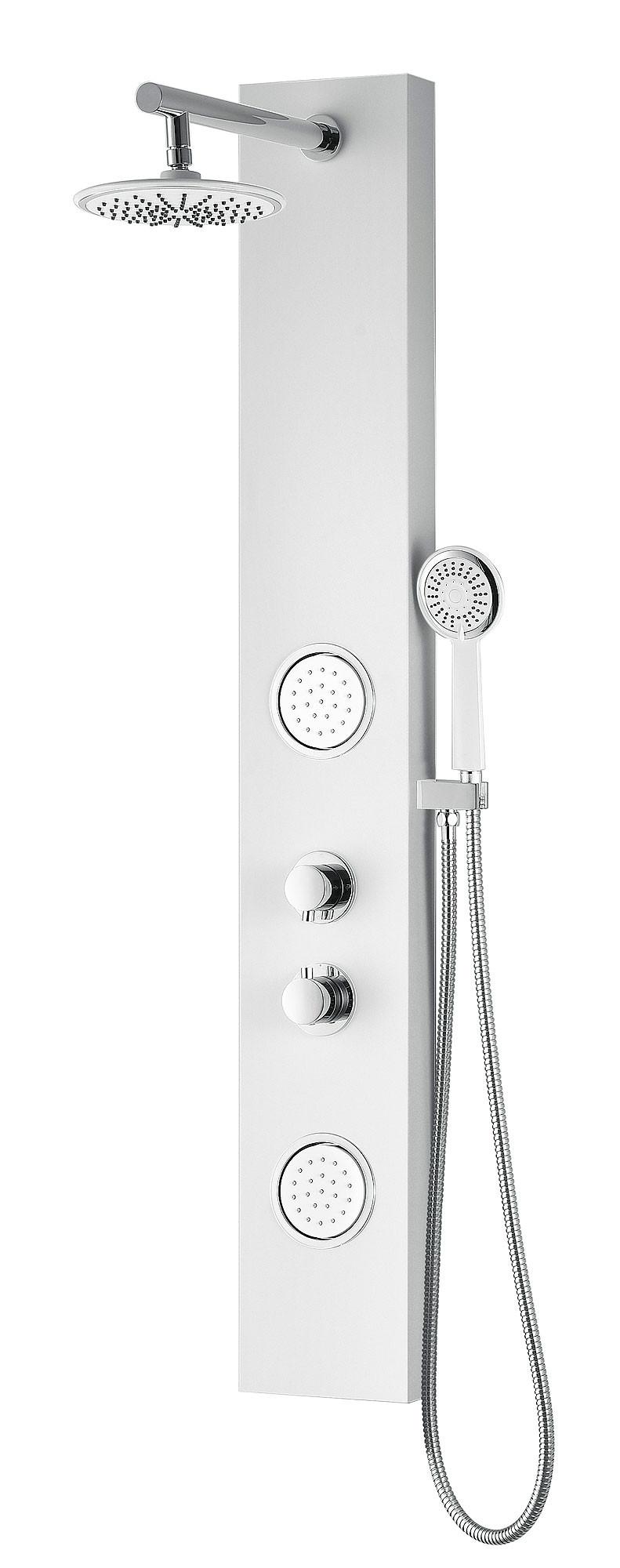 ANZZI SP-AZ057 Aquifer Shower Panel System With Rain Shower In White