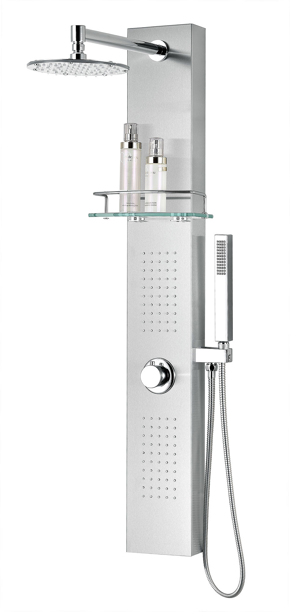 ANZZI SP-AZ075 Coastal Wall Mount Shower Panel In Brushed Stainless Steel