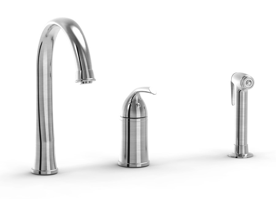 Parmir SSK-1300 Three Hole Kitchen Faucet with Lever Handle and Side Sprayer