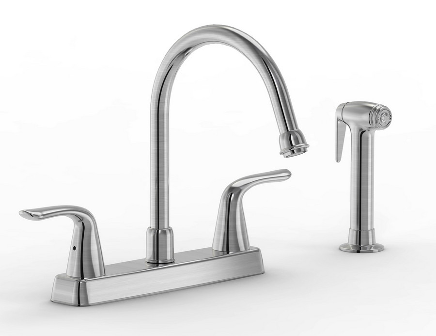 Parmir SSK-2512 Double Lever Handle Kitchen Faucet with Sidespray