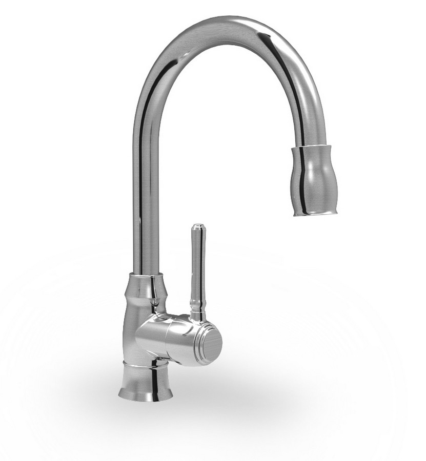 Parmir Single Hole Single Handle Kitchen Faucet with Pull Out Spray