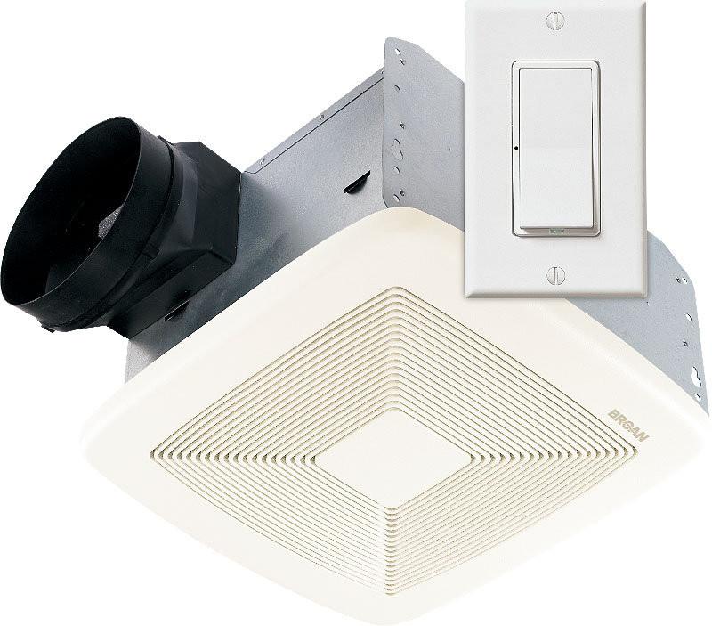 Broan SSQTXE080 Ceiling Mounted Smart Sense Utility Fan with Wall Control