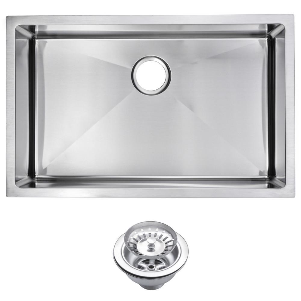 Water Creation SSS-US-3019B 1 Bowl Stainless Steel Undermount Kitchen Sink