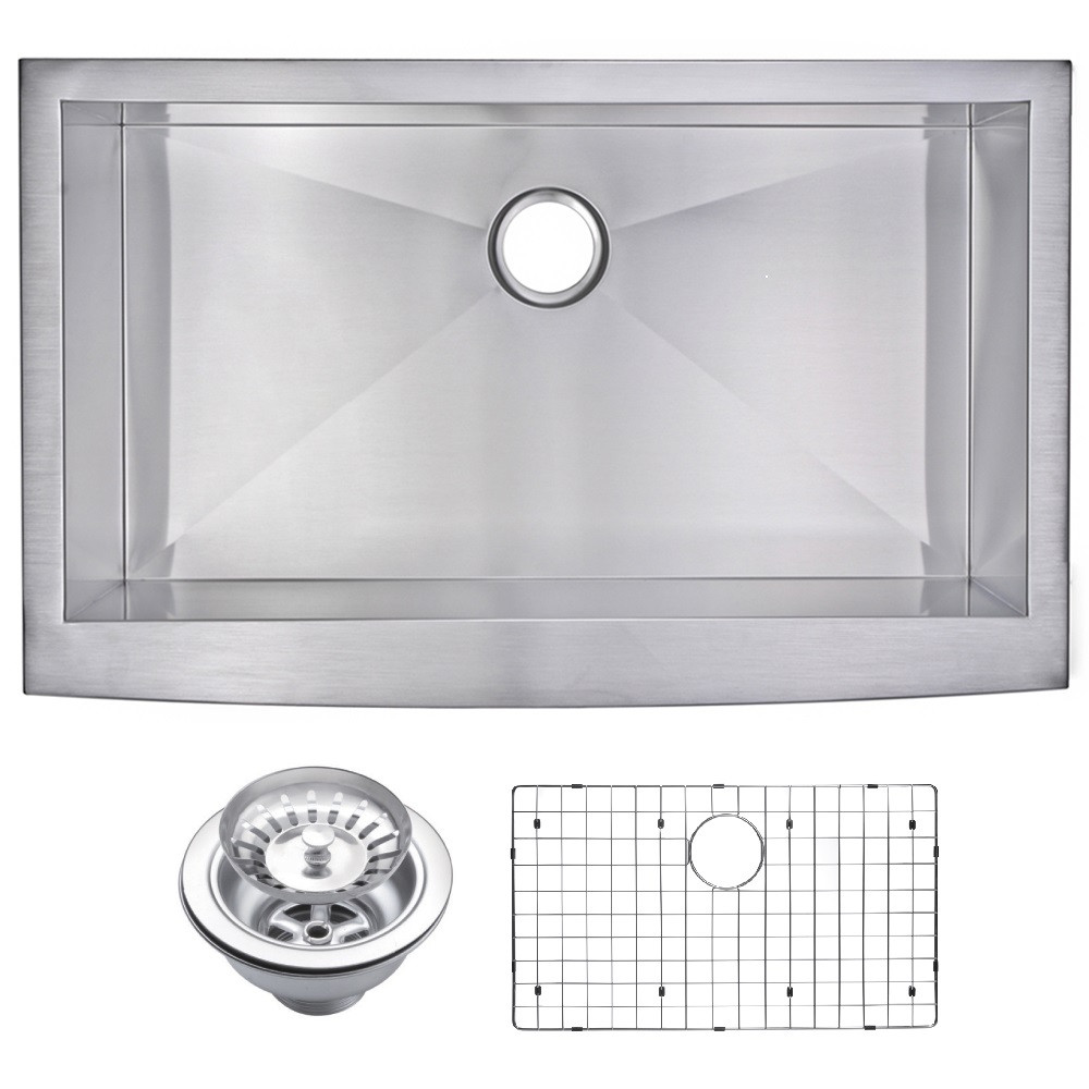 Water Creation SSSG-AS-3622A Stainless Steel Hand Made Apron Front Sink