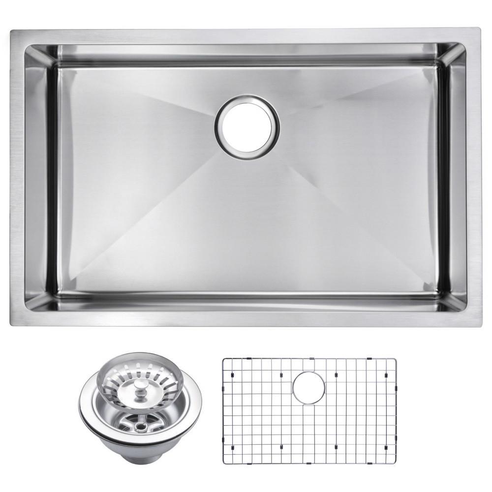 Water Creation SSSG-US-3019B Corner Radius Single Bowl Sink For Kitchen