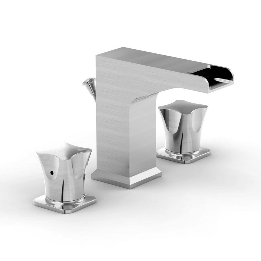 Parmir SSV-2300A Widespread Bathroom Faucet with Double Lever Handle