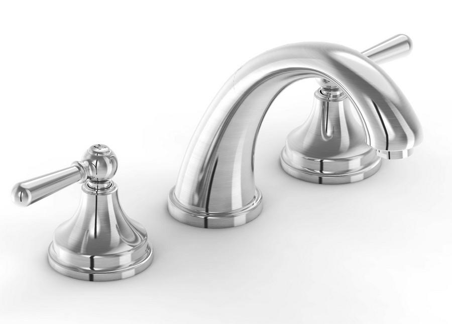 Parmir SSV-350 Triple Hole Vanity Faucet with Double Lever Handle