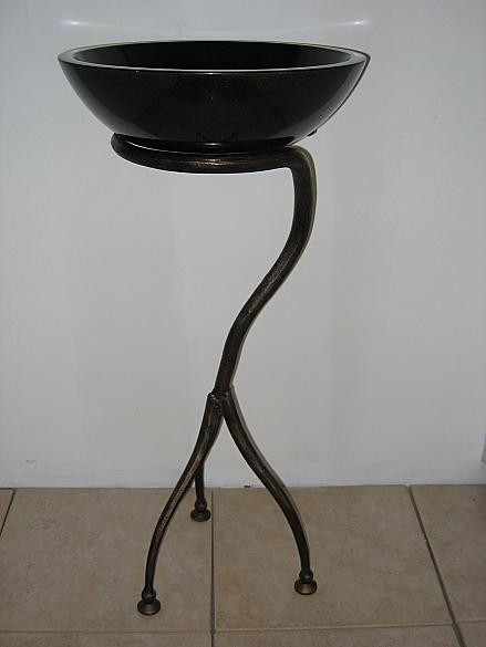 Quiescence ST-WHMS Wrought Iron Tri Legged Whimsical Sink Pedestal
