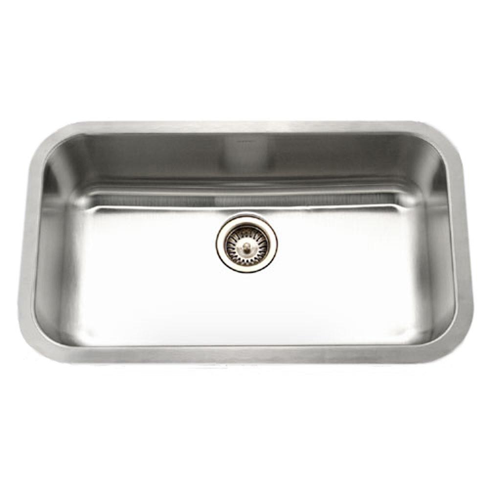 Houzer STL-3600-1 Eston Undermount Stainless Steel Rectangular Kitchen Sink With 18 Gauge