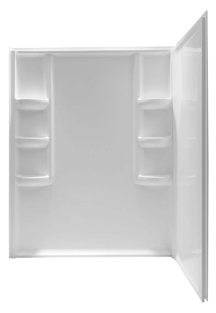 ANZZI SW-AZ005WH Lex-Class Two Panel Corner Bathroom Shower Wall In White
