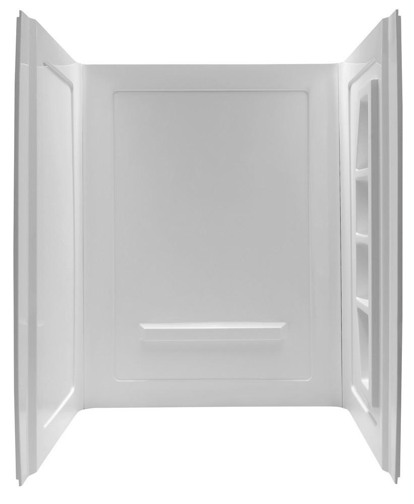 ANZZI SW-AZ010WH Forum Three Panel Bathroom Shower Surround In White