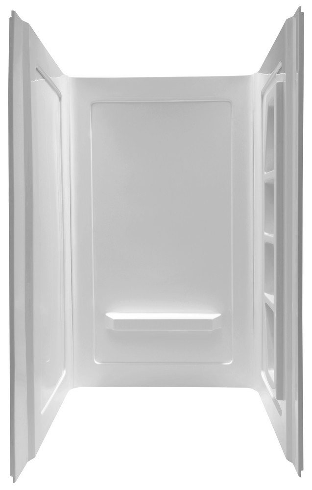 ANZZI SW-AZ011WH Forum Direct-to-Stud Alcove Shower Wall In White