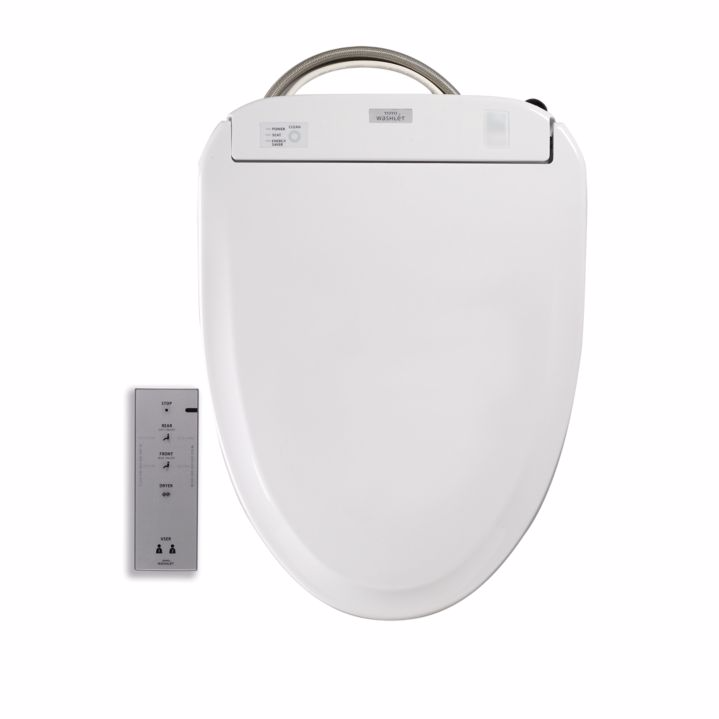 TOTO SW583#01 Cotton Washlet S350e Round Toilet Seat With Ewater+ And Night Light
