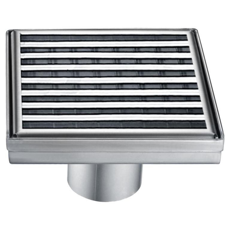 """Dawn® SWN050504 Wheaton River Series Square Shower Drain 5""""L In Polished Satin"""