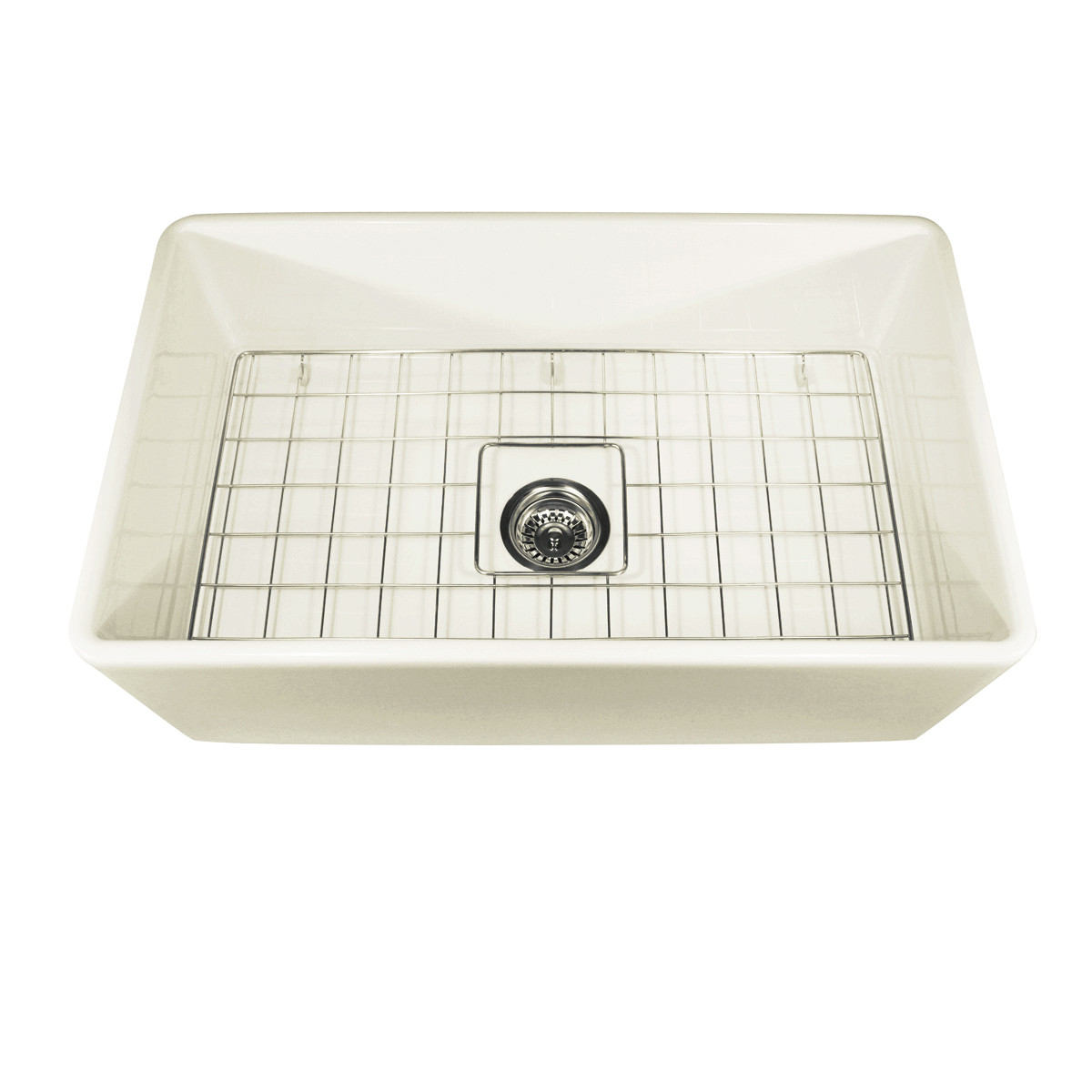 "Nantucket Sink T-FCFS30B 30"" Bisque Modern Fireclay Farmhouse Kitchen Sink"
