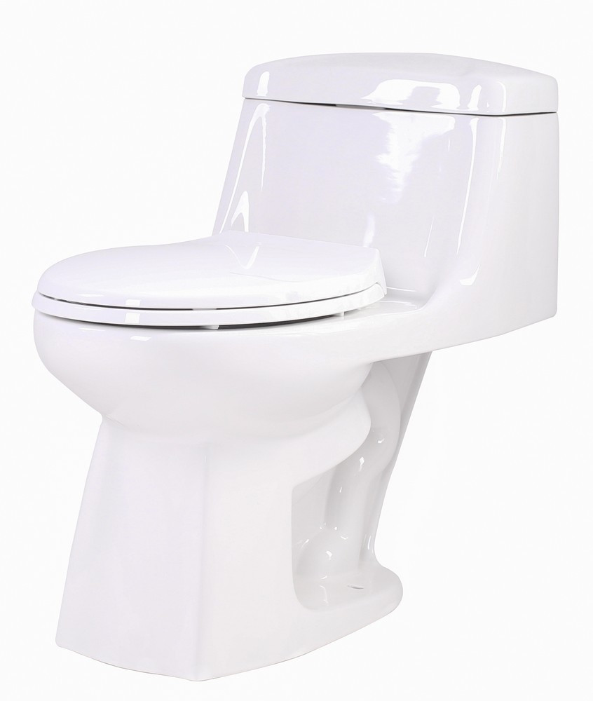 ANZZI T1-AZ061 Templar Floor Mount Single Flush Elongated Toilet In White