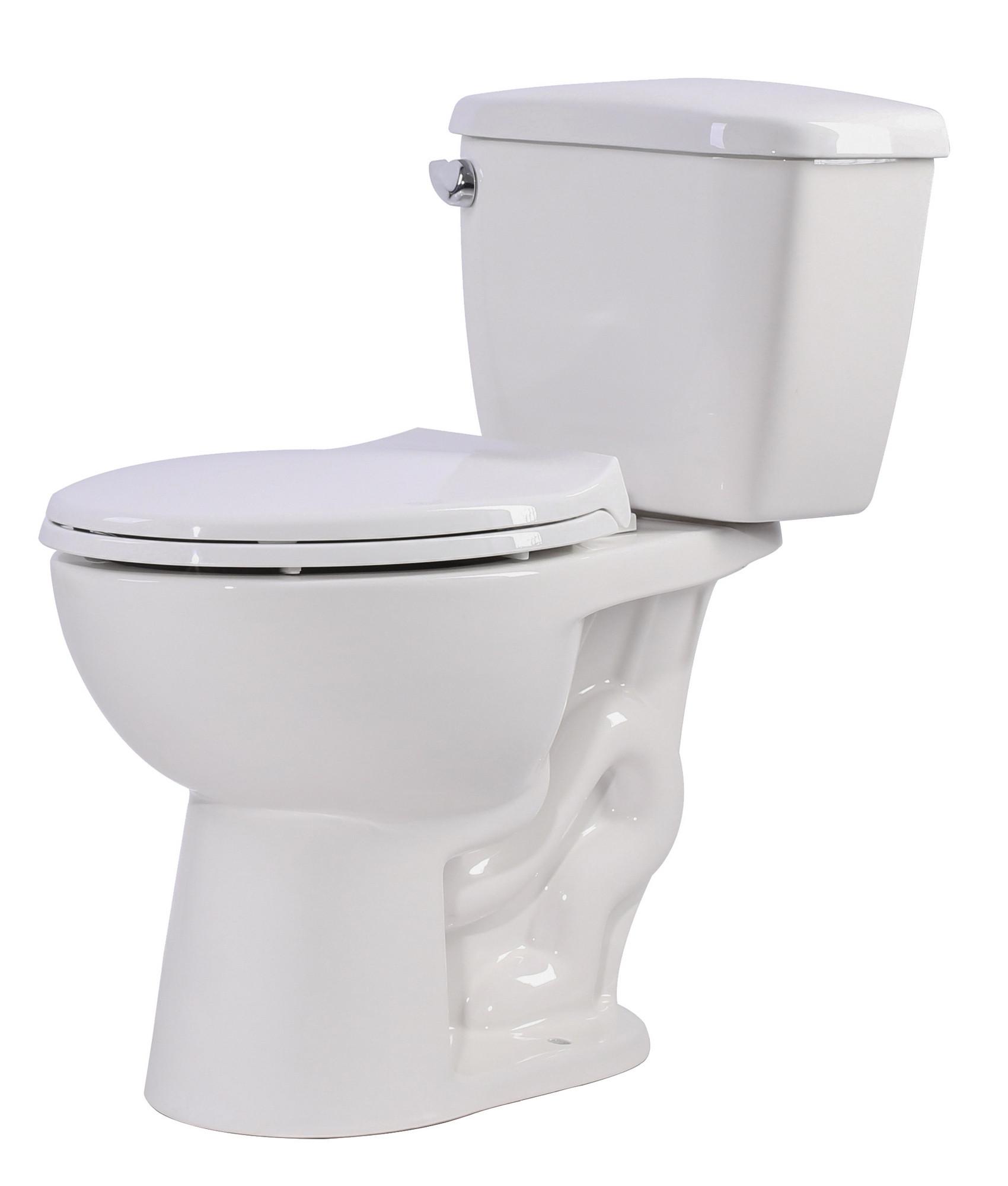 ANZZI T1-AZ063 Cavalier 2 Piece Single Flush Bathroom Toilet In White