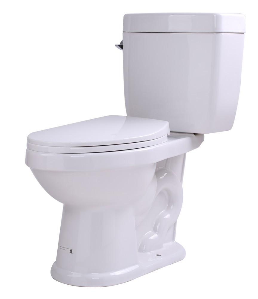 ANZZI T1-AZ065 Talos Floor Mount Single Flush Elongated Toilet In White