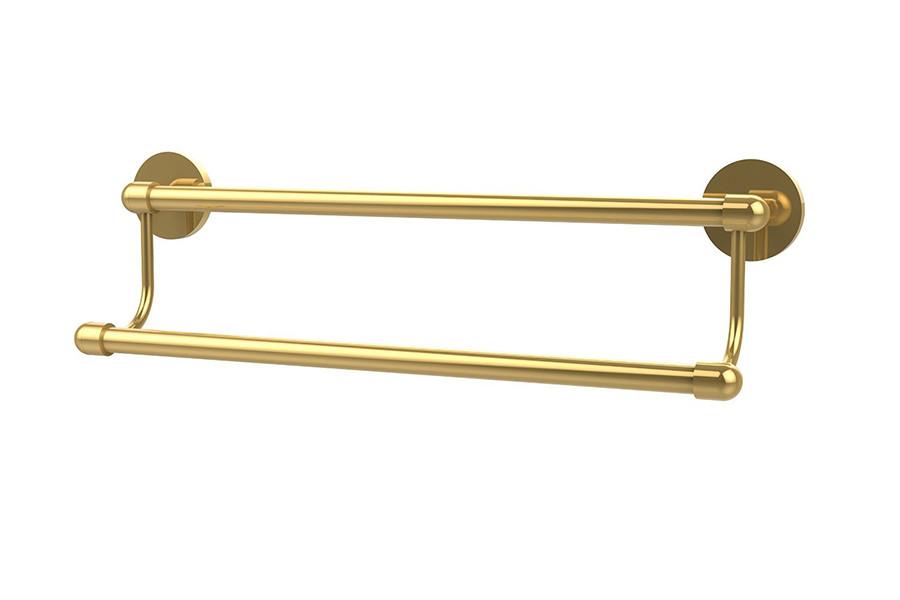 Allied Brass TA-72-24-PB 24 Inch Double Towel Bar in Polished Brass
