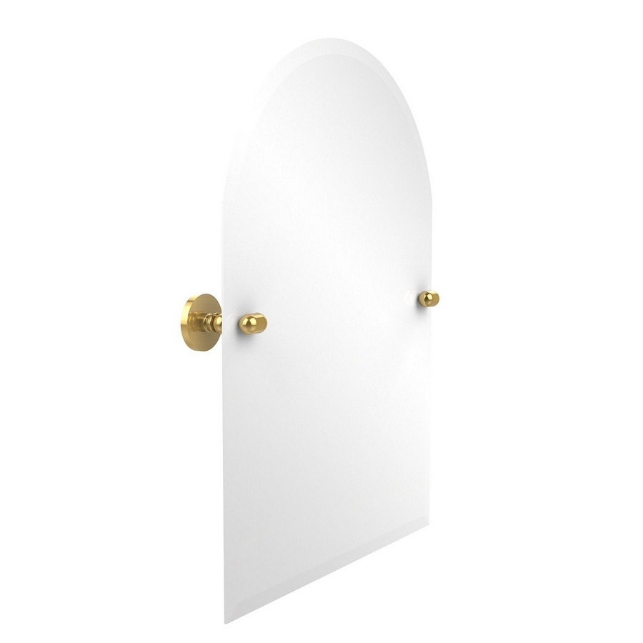 Allied Brass TA-94-PB Arched Top Beveled Edge Mirror in Polished Brass