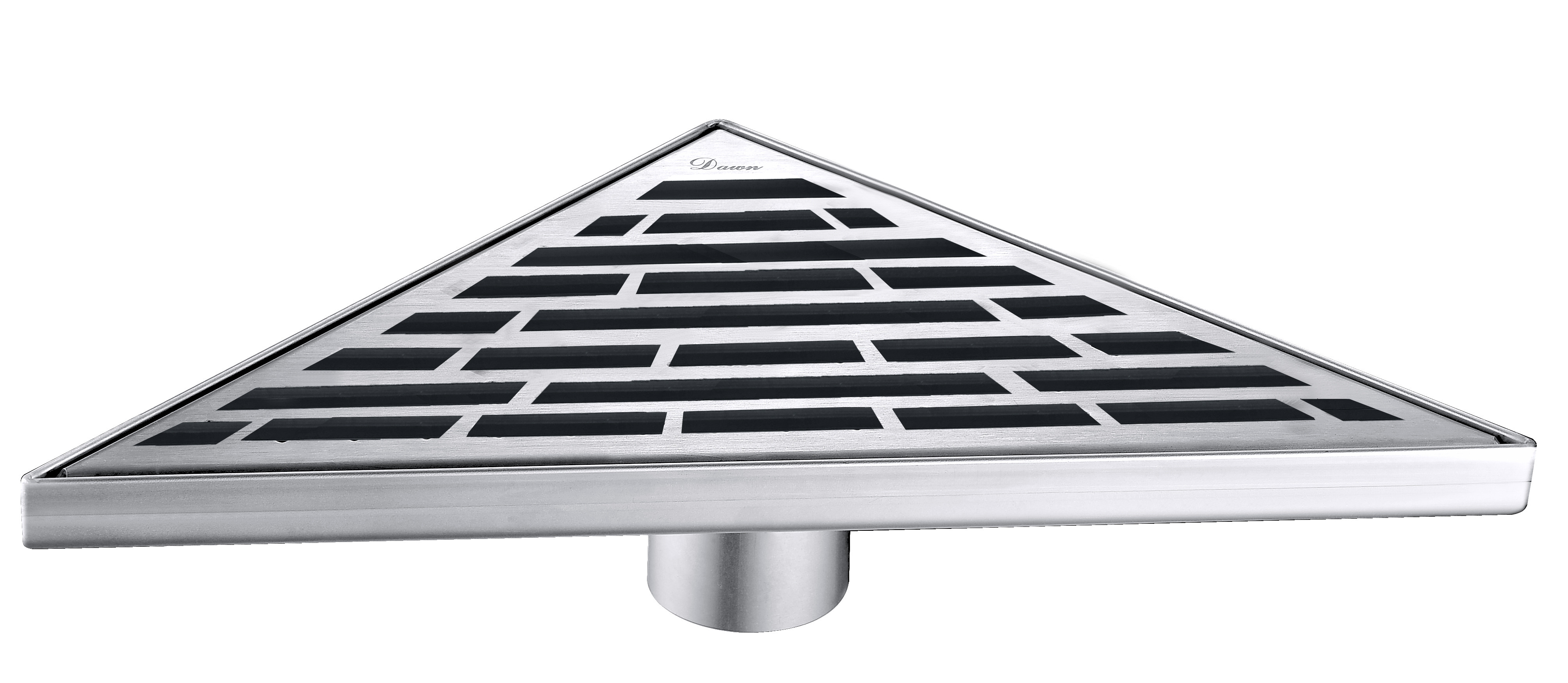 Dawn® TAN131004 Amazon River Series Triangle Shower Drain In Polished Satin