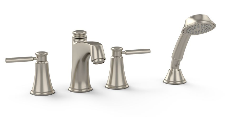 TOTO TB211S#BN Keane Deck Mounted Roman Tub Filler Trim With Handshower In Brushed Nickel