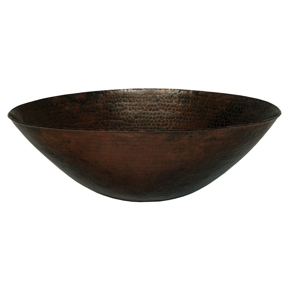 Novatto TCV-002ANORB CATALONIA Vessel Sink With Oil Rubbed Bronze Drain