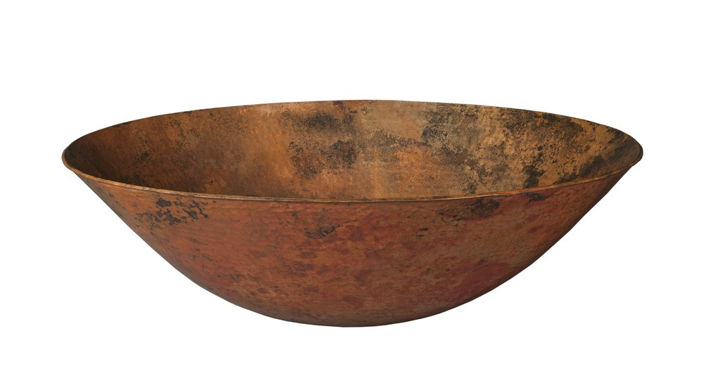 Novatto TCV-003NAORB BILBOA Copper Vessel Sink With Oil Rubbed Bronze Drain