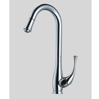 Dawn AB50-3084 Single Hole Kitchen Pull-Out Faucet