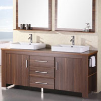 Design Element DEC083D Espresso Finish Double Vanity