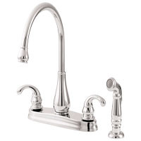 PricePfister GT36-4D Center set faucet with Side Spray