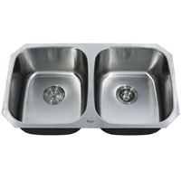 Kraus KBU22  Double Bowl Stainless Steel Sink