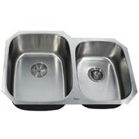 Kraus KBU24 Double Bowl Stainless Steel Sink