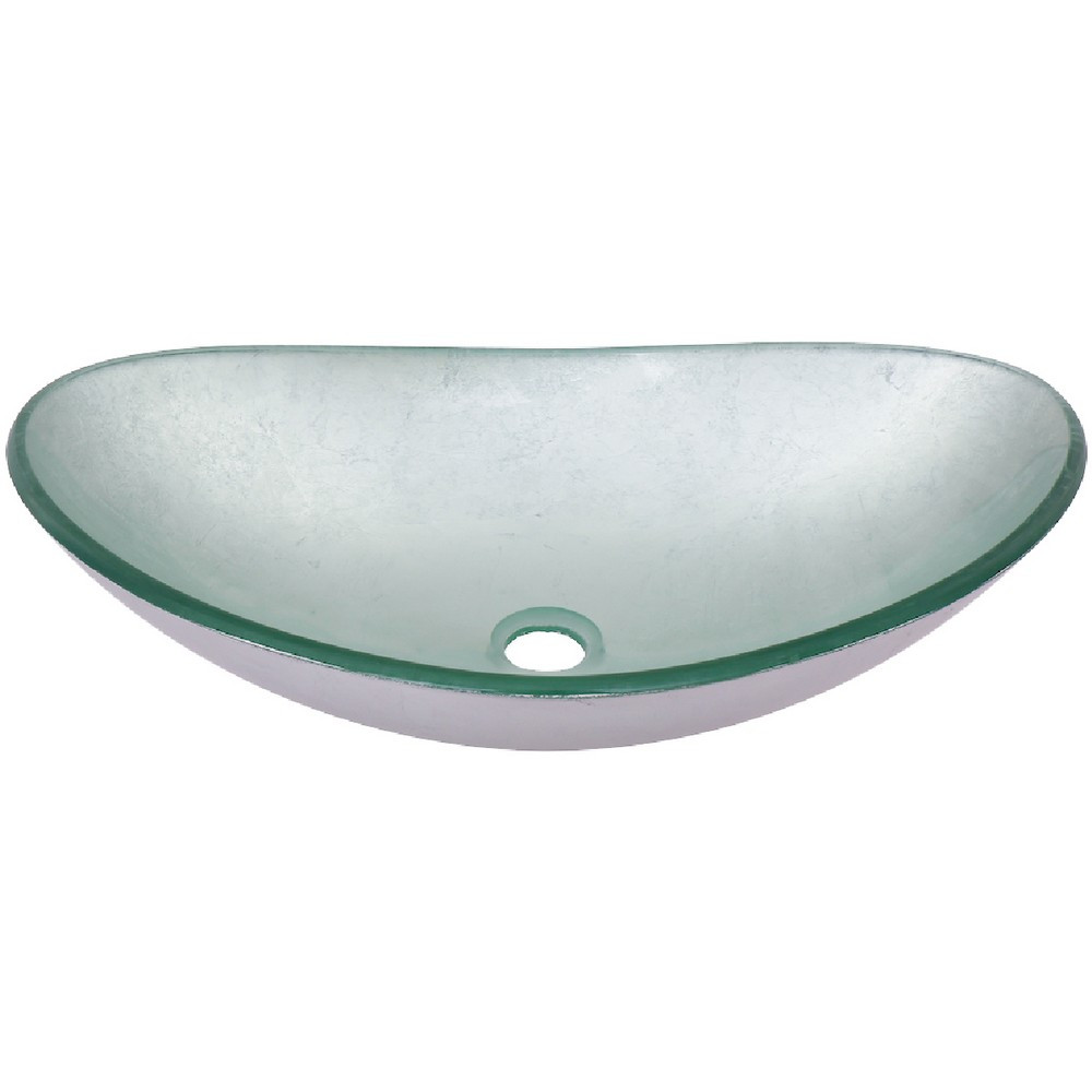 Novatto TIG-7032-8031-D ARGENTO OVAL Glass Vessel Bathroom Sink Set