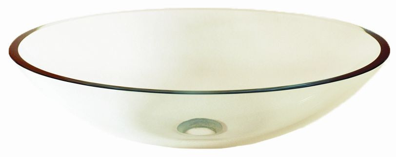 Novatto TIG-8012C Ovale Clear Oval Shaped Tempered Glass Vessel Sink
