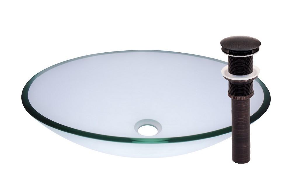 Novatto TIG-8012CORB OVALE Glass Vessel Bathroom Sink - Oil Rubbed Bronze