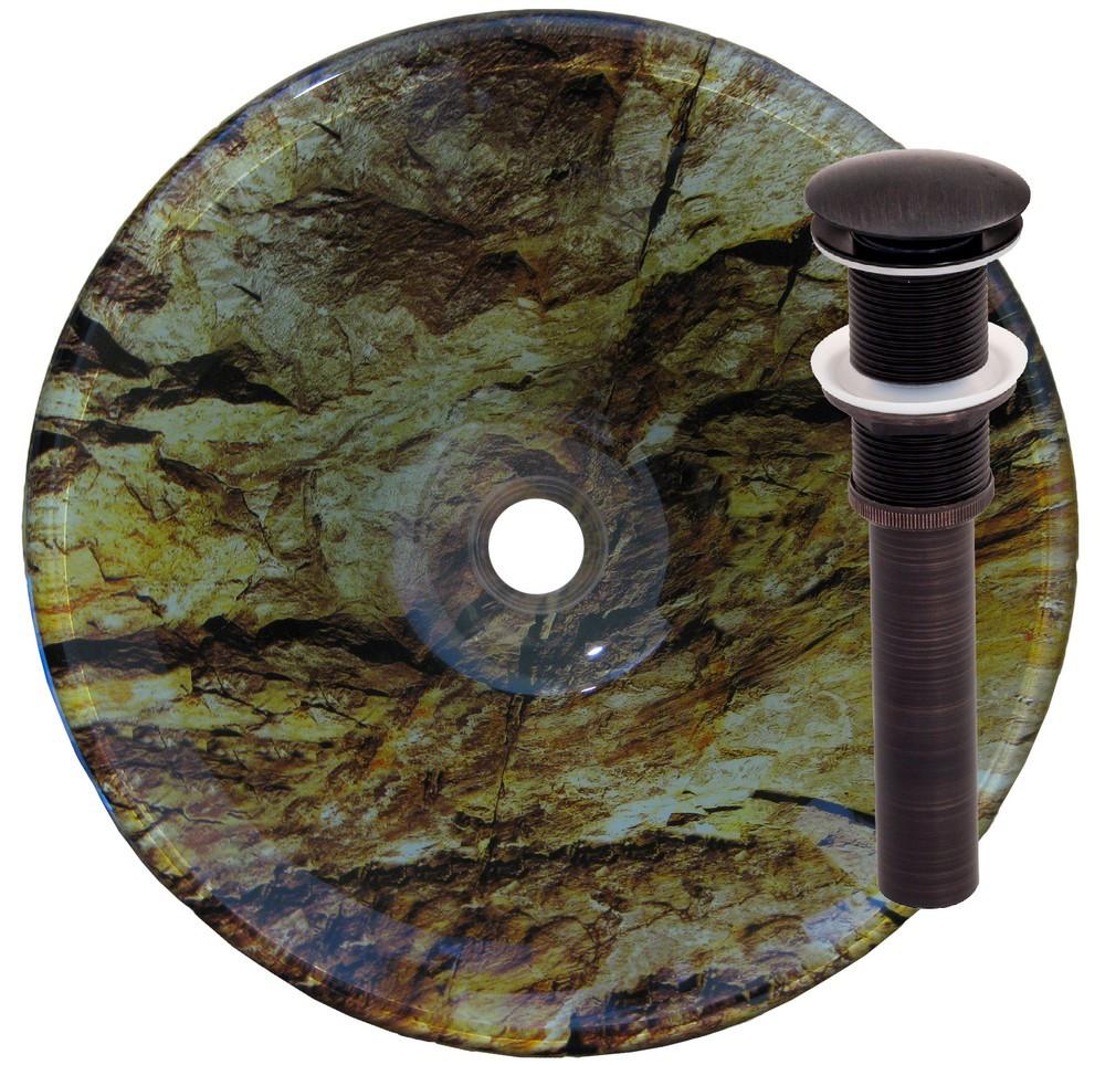 Novatto TIG-8436ORB MIMETIZZARE Vessel Bathroom Sink - Oil Rubbed Bronze