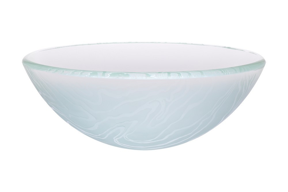 Novatto TIS-311 GELO Round Frosted Glass Vessel Bathroom Sink
